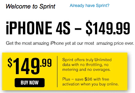 Sprint Drops Price of iPhone 4S Before iPhone 5 Launch