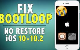 How to Fix Bootloop on iOS 10 - 10.2 Jailbreak (NO RESTORE)